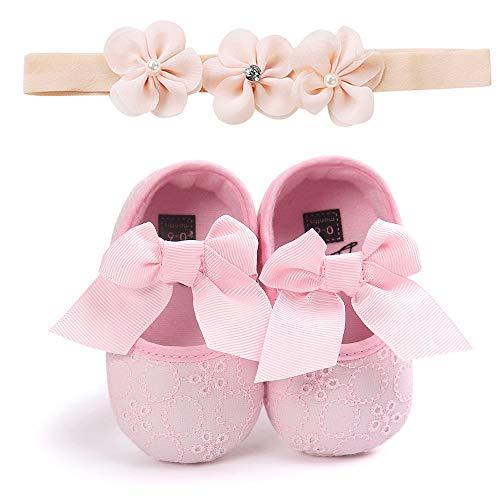 Unisex Neugeborenen Baby Schuhe, Sunday Säugling Mädchen Jungen Krabbelschuhe Herbst Krippeschuhe Turnschuhe Rutschfest Ballerinas Taufschuhe Partyschuhe Baby Geschenk 0-18 Monate
