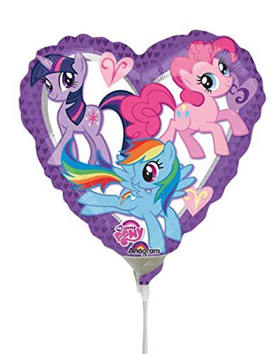 """Anagram Ballon Foil Mini 9""""-23cm My Little Pony heart-si Gonfia à air, multicolore, 7a2479809"""