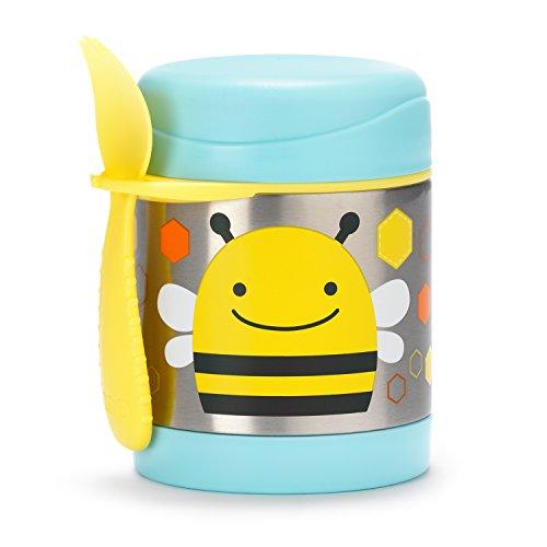 Skip Hop Aufbewahrungsbehälter, für Essen aus Edelstahl, isoliert, Biene Brooklyn, mehrfarbig