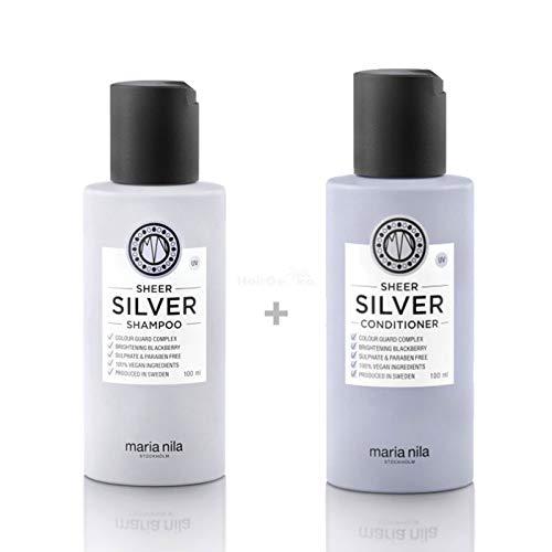 Maria Nila Sheer Silver Set - Shampoo 100 ml + Conditioner 100 ml