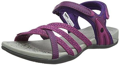 Mountain Warehouse Oia Sandals de Las Mujeres - Zapatos Ligeros del Verano, Flip-Flop Flexibles, amortiguando la Espuma, Cerradura del Gancho y Bucle - para el Resorte Mint 39