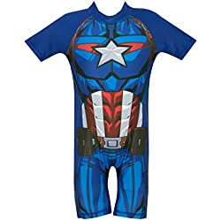 Marvel Avengers - Bañador para niño - Captain America - 5 - 6 Años