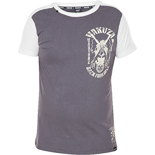 Yakuza T-Shirt Warzone TSB-614 Rabbit Braun Grau