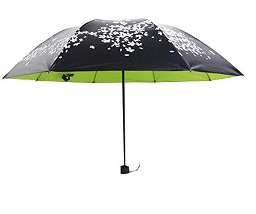 Vinyl Sun Umbrella Cerisier Effacer Umbrella Trois Pliant Sun Parapluies