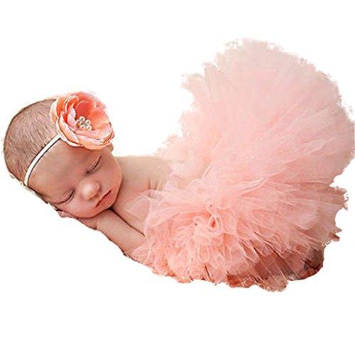Chinget Fotos Fotografie Prop Baby Mächen Kostüm Süer Prinzessin Kleid Tüllkleid mit Kopfband Festzug Kleidung ()