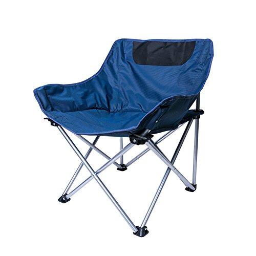 L&J Plein Air Camping Chaises Pliantes, Lightweight Portable Loisir Chaise De Pêche, Parc Patio Jardin Le Picnic Barbecues Peinture Croquis-Bleu