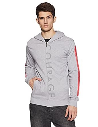 United Colors of Benetton Men's Cotton Sweatshirt (17A3S44J8014I903S_Grey_S)