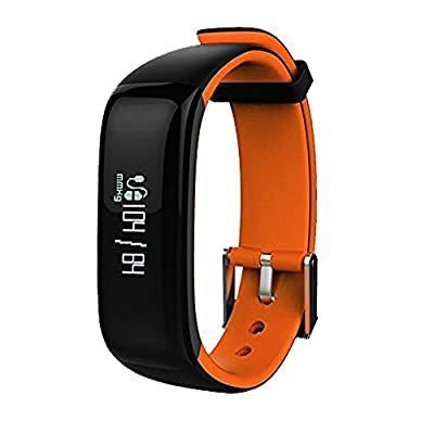 Fitness Tracker Heart Rate Blood Pressure Intelligent Bluetooth Bracelet with Blood Pressure Monitor; Heartrate Control of Health Calorie Tracker Sport Pedometer by Nex Box