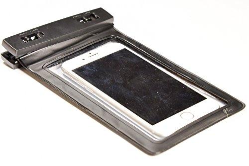 PROtastic® Dry bag custodia impermeabile universale per iPhone 6, 6 Plus, 5, 5S, 4, Samsung Galaxy S6 e S6 Edge S5 S4, Samsung Note, Touch reattivo anteriore e posteriore trasparente dello schermo di Windows; Durable (nero)