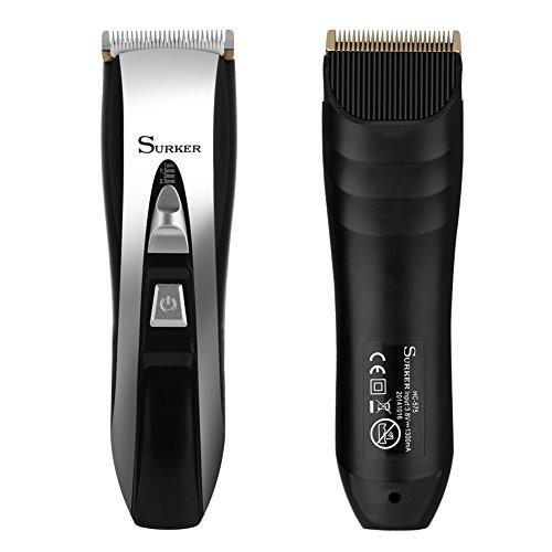 Elehot Surker Haartrimmer Haarschneider Profi-Haarschneidemaschine mit LED-Display und kabelloser Betrieb Netzteil elegant set