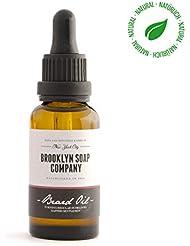 entretien barbe naturel: huile à barbe (30 ml)✔cosmétiques naturels de la BROOKLYN SOAP COMPANY idée cadeau pour...