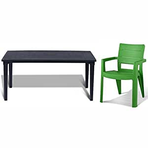 tepro gartenm bel set futura und ibiza graphit. Black Bedroom Furniture Sets. Home Design Ideas