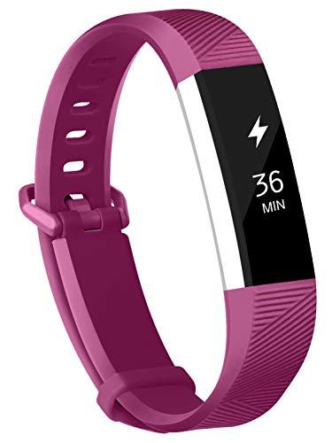 Adepoy Ersatzarmbänder kompatibel für Fitbit Alta/Alta HR, verstellbare Sport Smartwatch Fitness Armband für Frauen Männer Schwarz Groß