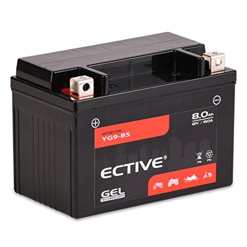 ECTIVE 12V 8Ah Gel Motorradbatterie YTX9-BS : 5Ah - 21Ah (absolut wartungsfrei)