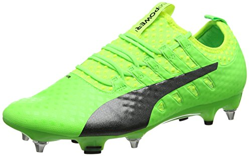 Puma Evopower Vigor 1 Mx Sg, Chaussures de Football Homme Vert (Green Gecko-puma Black-safety Yellow 01)