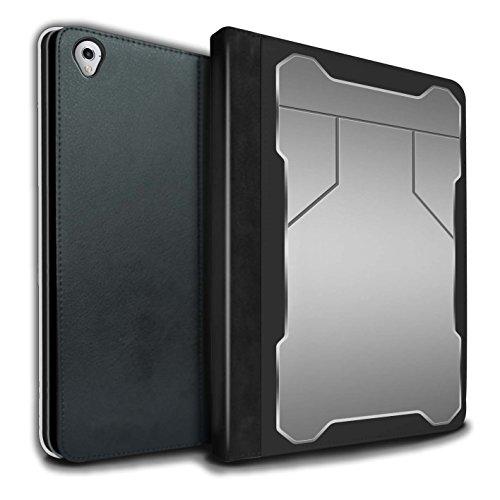 Stuff4® PU-Leder Hülle/Case/Brieftasche für Apple iPad Pro 9.7 Tablet/Verteidigung Muster/Rüstung Kollektion