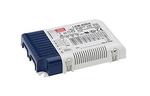 Preisvergleich Produktbild Meanwell MW LCM-60DA - Schaltnetzteil f. LED Konstantstrom wählbar dali - Netzteil - 60 W, LCM-60DA