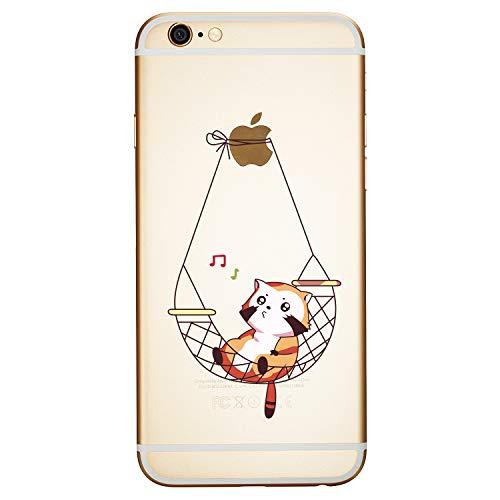 ChoosEU Kompatibel mit Hülle iPhone 6S Plus/iPhone 6 Plus Silikon Muster Transparent Handyhülle für Mädchen Frau Mann, Dünn Silikonhülle Durchsichtig Stoßfest Case Schutzhülle - Katze