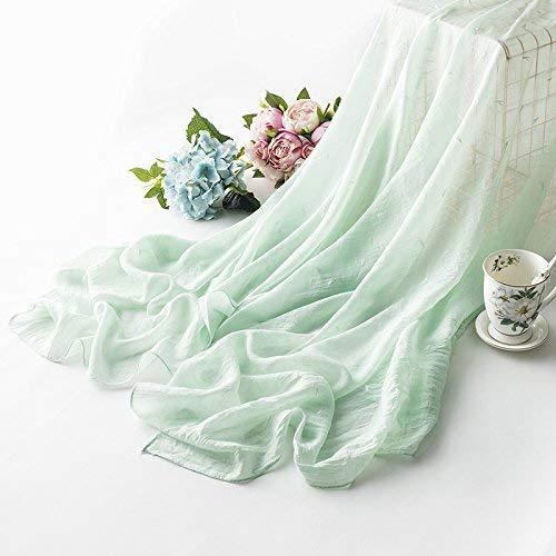 Eeayyygch Schal für den Sommer, Strandtuch, Sonnenschutz, groß, Leinen, Grün,
