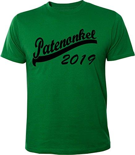 Mister Merchandise Herren Men T-Shirt Patenonkel 2019 Tee Shirt bedruckt Grün
