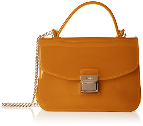 FURLA - Candy Sugar Mini Crossbody, Borsa a tracolla Donna Yellow (Zafferano B)
