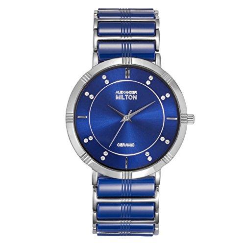 ALEXANDER MILTON - montre homme - AIDOS, bleu/argente
