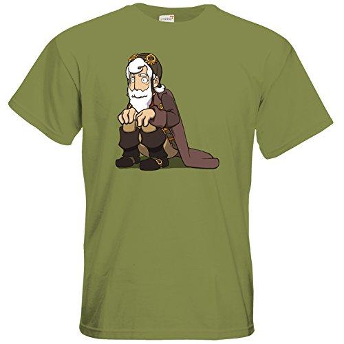 getshirts - Daedalic Official Merchandise - T-Shirt - Deponia Grandpa Rufus Green Moss