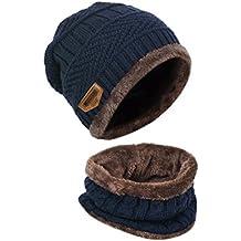 LvLoFit Cappello Morbido e Caldo Lavorato a Maglia e Cerchio Sciarpa per Le  Donne Vestito Uomo 00904fc88d53