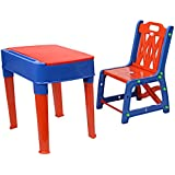 My Baby Choice Junior's Study Table Set - Red And Blue (study Table, Chair Table, Baby Study Table, Study Table For Junior, Baby Home Products, Good Quality Product)