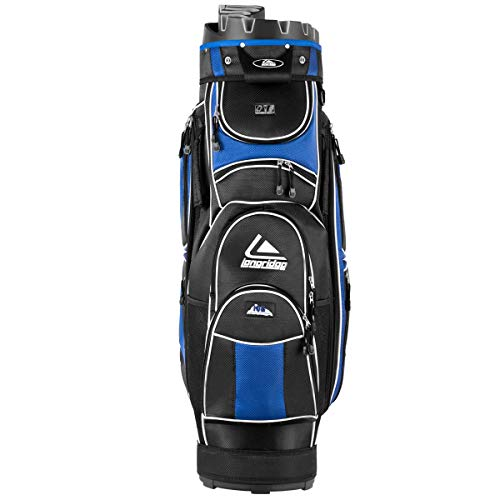 Tangkula Golf Cart Bag with 14 Way Organizer Divider Top and 12 Pockets for Extra Storage Golf Club Bags (Blue)