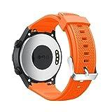 CICIYONER 1 PC Silica Gel Uhrenarmband für Huawei Watch 2, leicht und kompatibel (Huawei Watch 2, Orange)