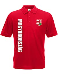 Ungarn Magyarorszag Polo-Shirt Trikot Wunschname Wunschnummer