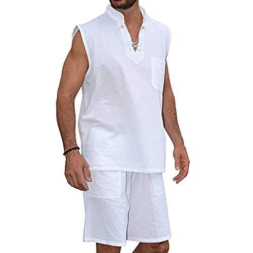 TIMEMEAN Herren Overall Jumpsuit Kurz Hippie-Hemden Kurzarm Strand Hemd Shorts Anzug Overall - High Five Jacke Kinder