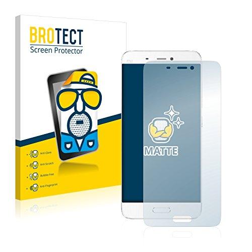 BROTECT Entspiegelungs-Schutzfolie kompatibel mit Xiaomi Mi5 (2 Stück) - Anti-Reflex, Matt