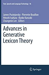 Advances in Generative Lexicon Theory (Text, Speech and Language Technology)