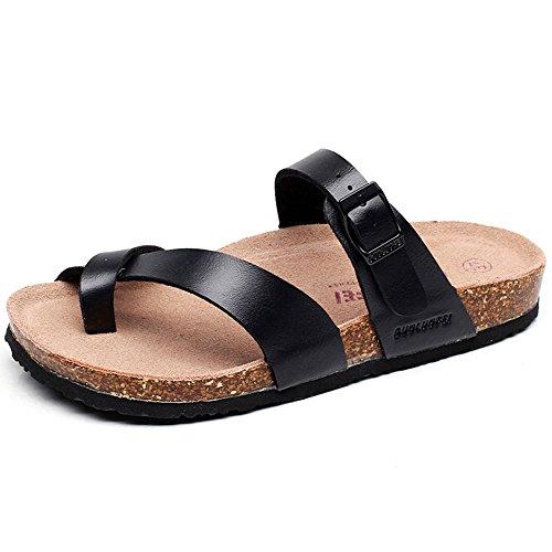 XIA Pantofole da uomo Cork Flat Fashion antiscivolo per il tempo libero Sandali da spiaggia ( Colore : B , dimensioni : EU36/UK3.5/CN35 ) A