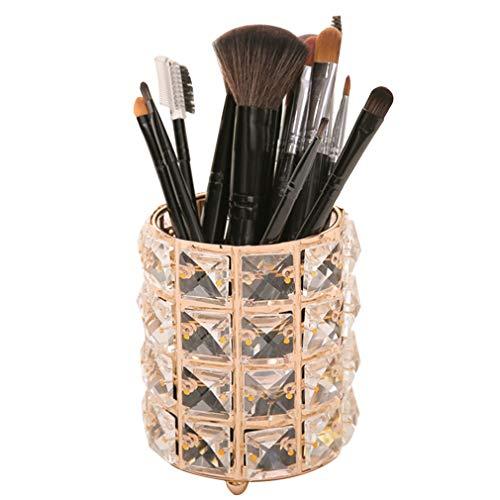 Support de Boîte de Stockage de Cosmétiques Organisateur de Maquillage, Accessoires de Bureau Or Pots Cosmétiques pour Pinceau de Maquillage, Rouge À Lèvres, Peigne