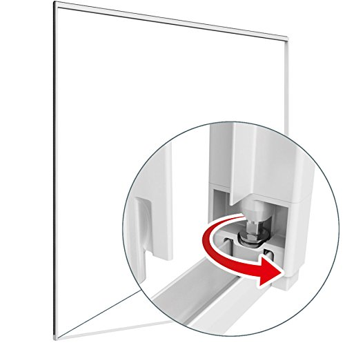 Easy Life, zanzariera a due ante scorrevoli, in alluminio, con telaio di fissaggio, dimensioni 230x 240cm, di colore bianco.