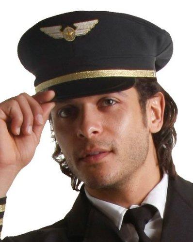 Piloten Kostüm Hut - Dress Up America 401-A Airline Pilot Hut Kostüm für Erwachsene, Einheitsgröße