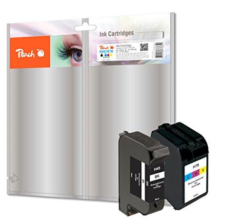 Preisvergleich Produktbild Peach Spar Pack Druckköpfe kompatibel zu HP No. 45, 51645A,  No. 78, C6578D