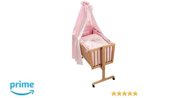 Easy baby 480 82 wiegenset sleeping bear rose: amazon.de: baby