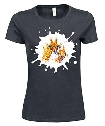 makato Damen T-Shirt Luxury Tee The Lick Dark Grey
