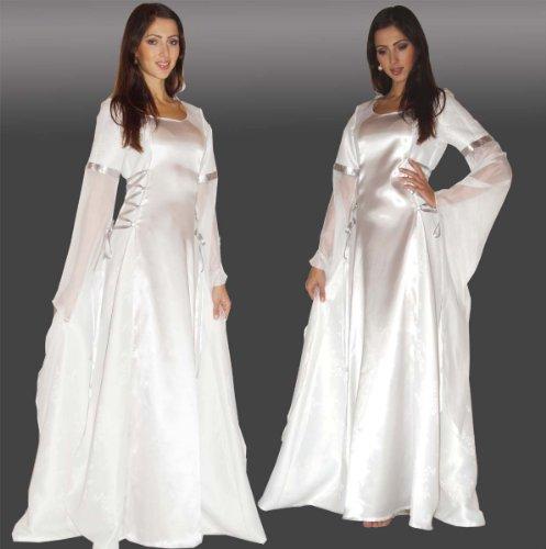 Maylynn 12201-S-M - Mittelalter Kostüm Anael Engel, S/M ca. (Kleid Mittelalter Weiss)