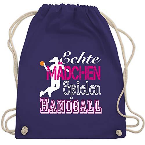 dchen Spielen Handball weiß - Unisize - Lila - WM110 - Turnbeutel & Gym Bag ()