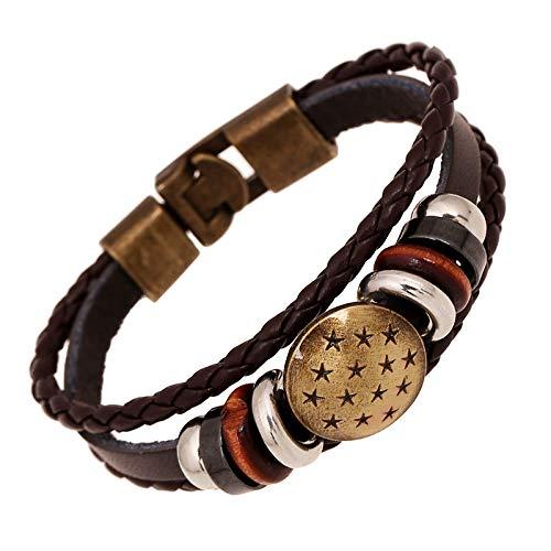 ZSCRL Neue Frauen 'Armband Set Mode Kreative Dream Catcher Coco Bogen Blau Geometrische Dreieck Vier Stück Armband Silber (Catcher Kit Für Erwachsene)