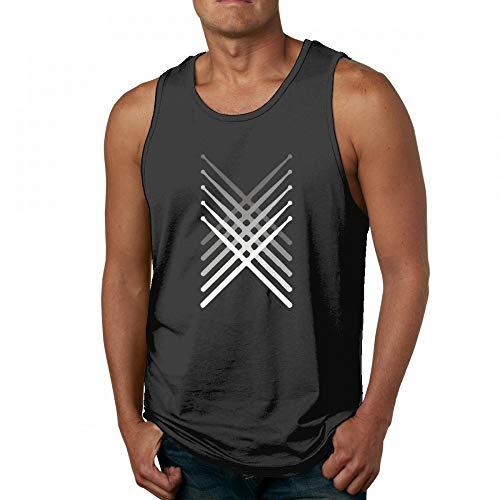 Funny Drum Sticks Men's Quick-Dry Loose-Fit Crew Tank Top Shirt Sleek Sticks Collection