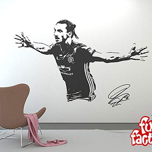 zqyjhkou Aufkleber Fußball Fußball Spieler Schweden Kreative Vinyl Sport Abziehbild Jungen Raumdekoration 164 cm X 100 cm