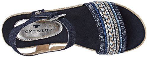 Tom Tailor 2791105, Scarpe Col Tacco con Cinturino a T Donna blu (navy)