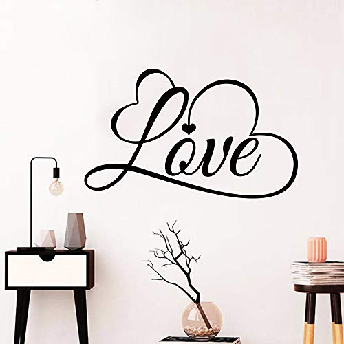 Romantic Love Wall Sticker Decals Mural for girls Bedroom Decor Room house Decoration vinyl wallstickers wallpaper white XL 58cm X 36cm