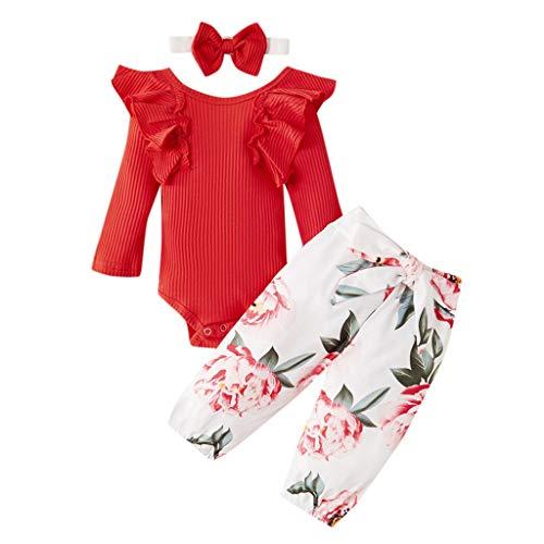 Cwemimifa Baby Kleidung Set Junge Baumwolle,Neugeborenes Baby Mädchen Jungen Brief Strampler Beinwärmer Patrick's Day Outfits,Unterwäschesets für Baby-Jungen,Golden